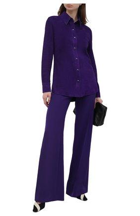 Женские брюки TOM FORD фиолетового цвета, арт. PAW395-FAX185 | Фото 2