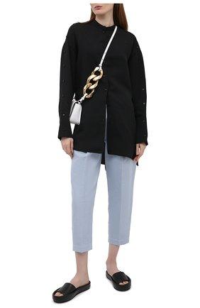 Женские брюки из хлопка и льна TELA голубого цвета, арт. 01 0170 14 0231 | Фото 2