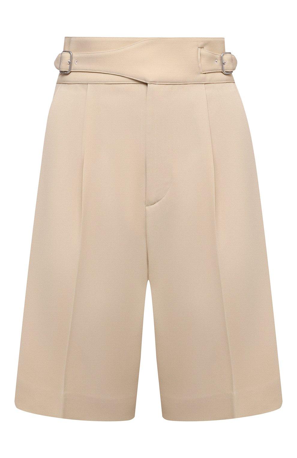 Женские шерстяные шорты RALPH LAUREN кремвого цвета, арт. 290840159   Фото 1