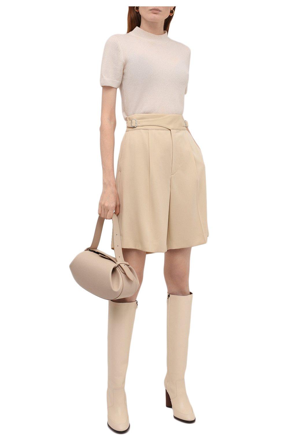 Женские шерстяные шорты RALPH LAUREN кремвого цвета, арт. 290840159   Фото 2