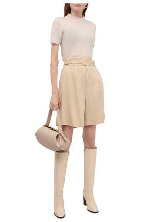 Женские шерстяные шорты RALPH LAUREN кремвого цвета, арт. 290840159 | Фото 2