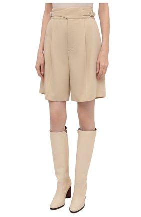 Женские шерстяные шорты RALPH LAUREN кремвого цвета, арт. 290840159 | Фото 3