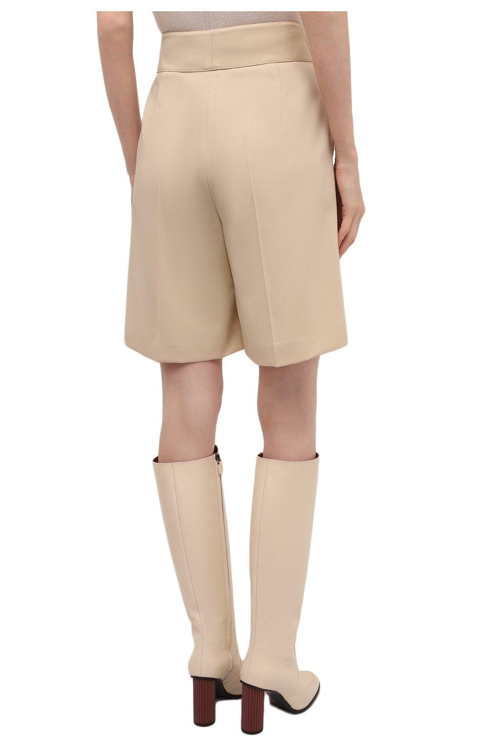 Женские шерстяные шорты RALPH LAUREN кремвого цвета, арт. 290840159 | Фото 4