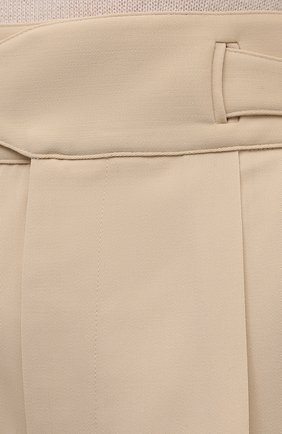 Женские шерстяные шорты RALPH LAUREN кремвого цвета, арт. 290840159 | Фото 5