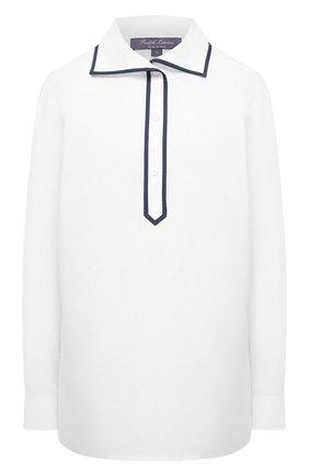Женская хлопковая рубашка RALPH LAUREN белого цвета, арт. 290840126 | Фото 1