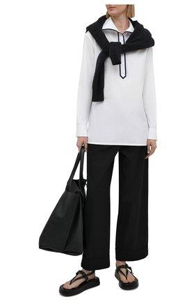 Женская хлопковая рубашка RALPH LAUREN белого цвета, арт. 290840126 | Фото 2