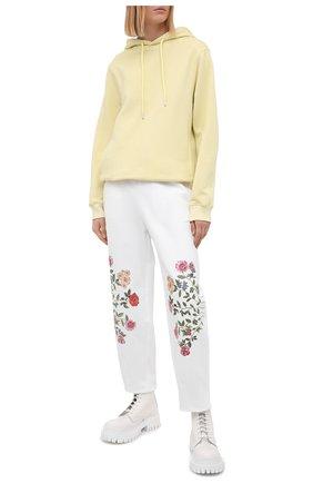 Женские хлопковые брюки VIVETTA белого цвета, арт. 21E V2M0/B071/6954 | Фото 2