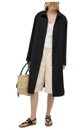 Женские комбинированные сандалии woody CHLOÉ черного цвета, арт. CHC20U32708 | Фото 2