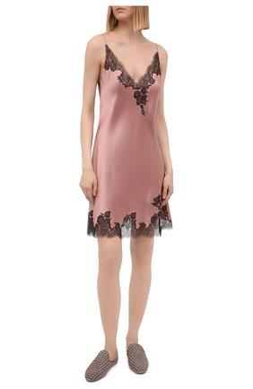 Женская шелковая сорочка CARINE GILSON розового цвета, арт. CG0308GS S21 | Фото 2