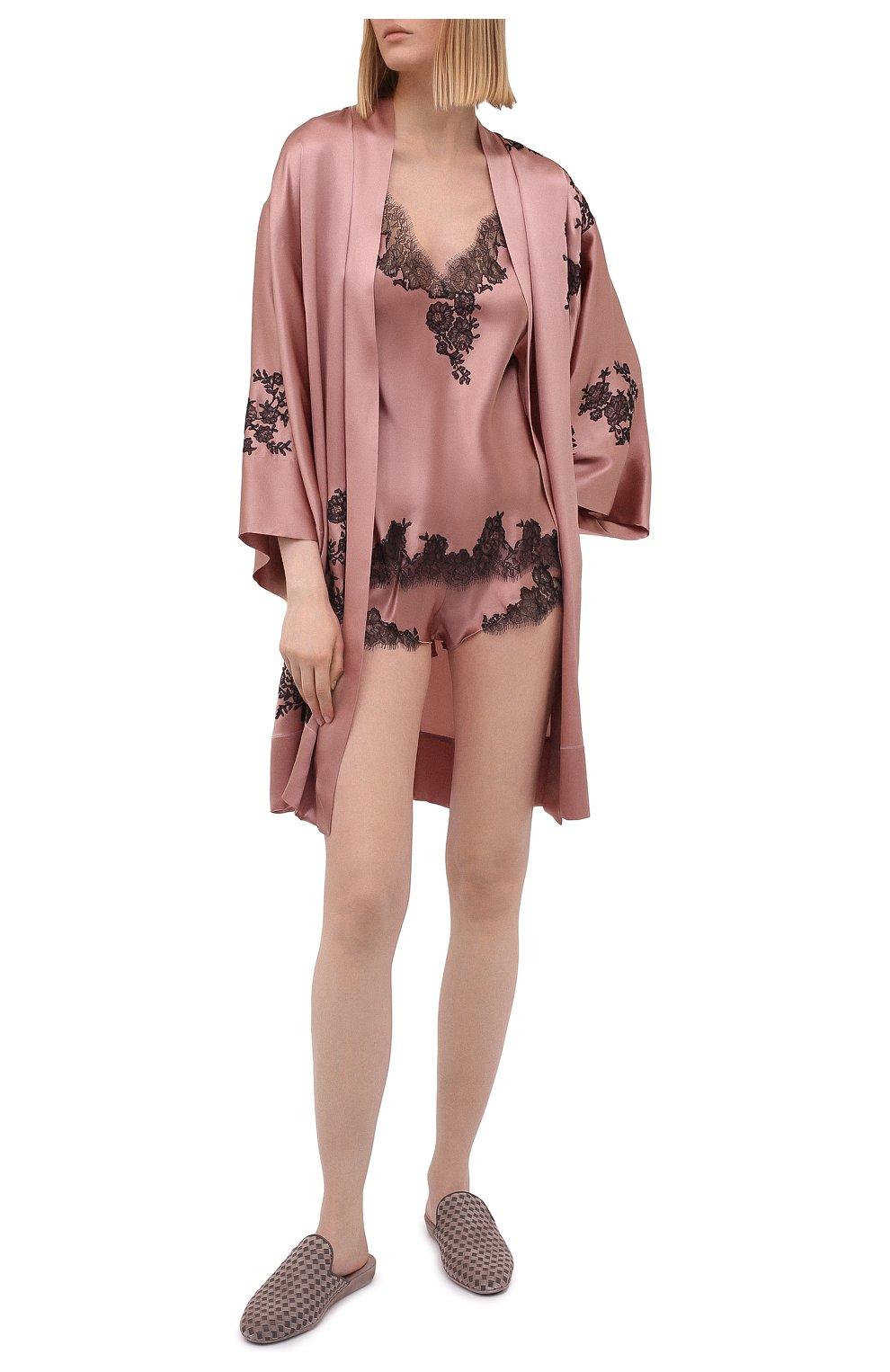 Женские шелковые шорты CARINE GILSON розового цвета, арт. CG0768PS S21 | Фото 2