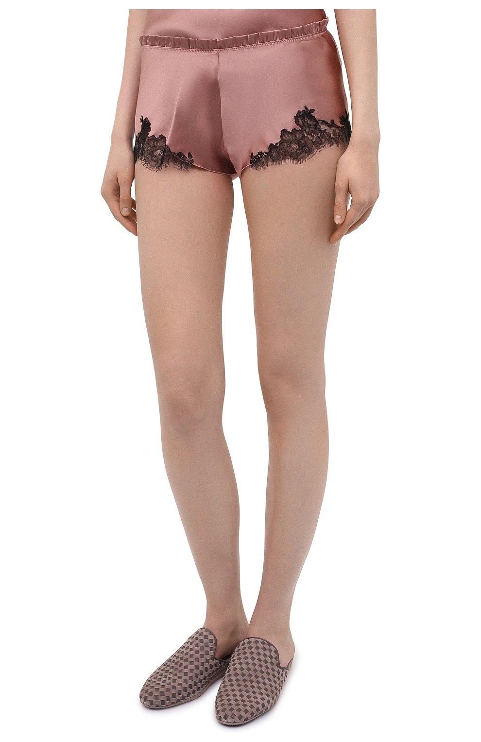 Женские шелковые шорты CARINE GILSON розового цвета, арт. CG0768PS S21 | Фото 3