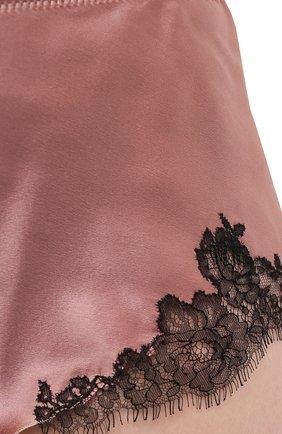 Женские шелковые шорты CARINE GILSON розового цвета, арт. CG0768PS S21 | Фото 5