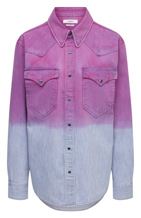 Женская джинсовая рубашка ISABEL MARANT ETOILE фиолетового цвета, арт. CH0740-21P070E/PITTI | Фото 1