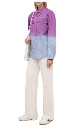Женская джинсовая рубашка ISABEL MARANT ETOILE фиолетового цвета, арт. CH0740-21P070E/PITTI | Фото 2