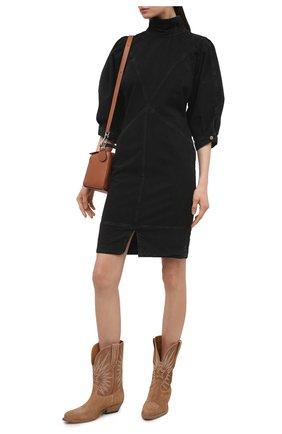 Женское джинсовое платье ISABEL MARANT ETOILE темно-серого цвета, арт. R01891-21P065E/LAURE | Фото 2
