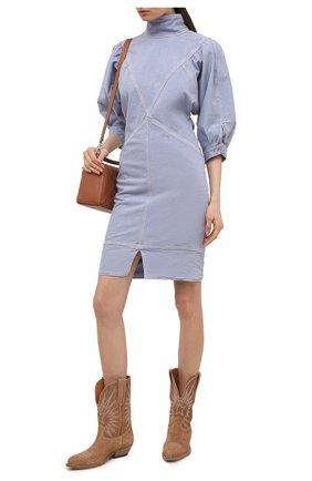 Женское джинсовое платье ISABEL MARANT ETOILE голубого цвета, арт. R01891-21P065E/LAURE | Фото 2
