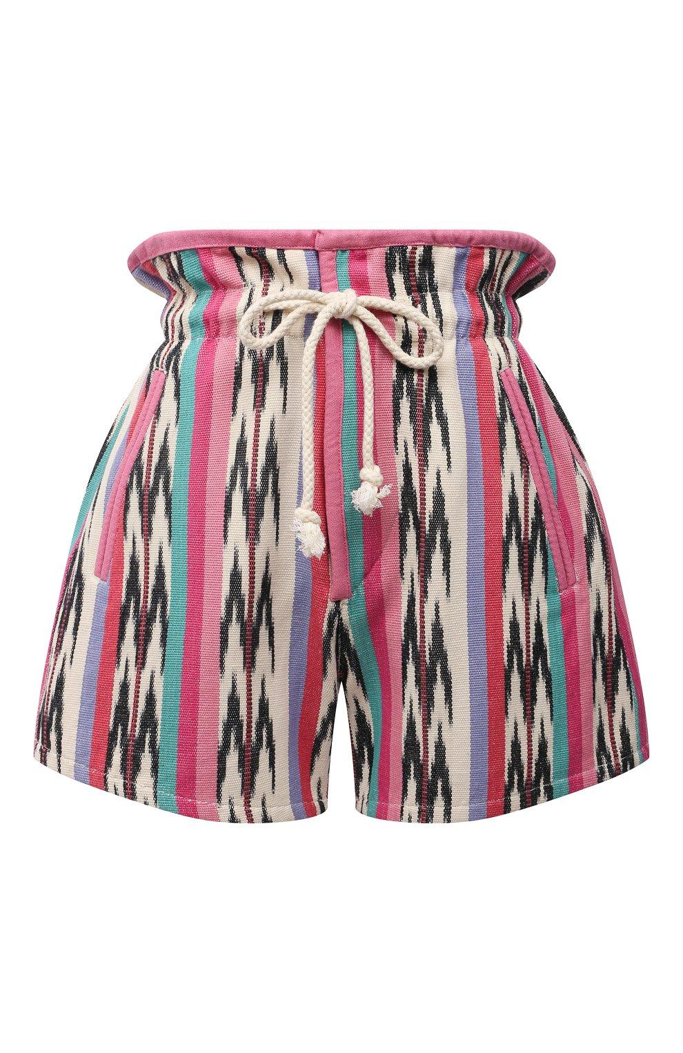 Женские хлопковые шорты ISABEL MARANT ETOILE разноцветного цвета, арт. SH0367-21P010E/INIMA | Фото 1