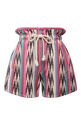 Женские хлопковые шорты ISABEL MARANT ETOILE разноцветного цвета, арт. SH0367-21P010E/INIMA | Фото 1 (Материал внешний: Хлопок; Длина Ж (юбки, платья, шорты): Мини; Материал подклада: Хлопок; Женское Кросс-КТ: Шорты-одежда; Стили: Этно)
