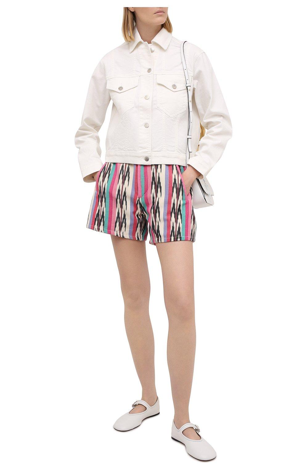 Женские хлопковые шорты ISABEL MARANT ETOILE разноцветного цвета, арт. SH0367-21P010E/INIMA | Фото 2