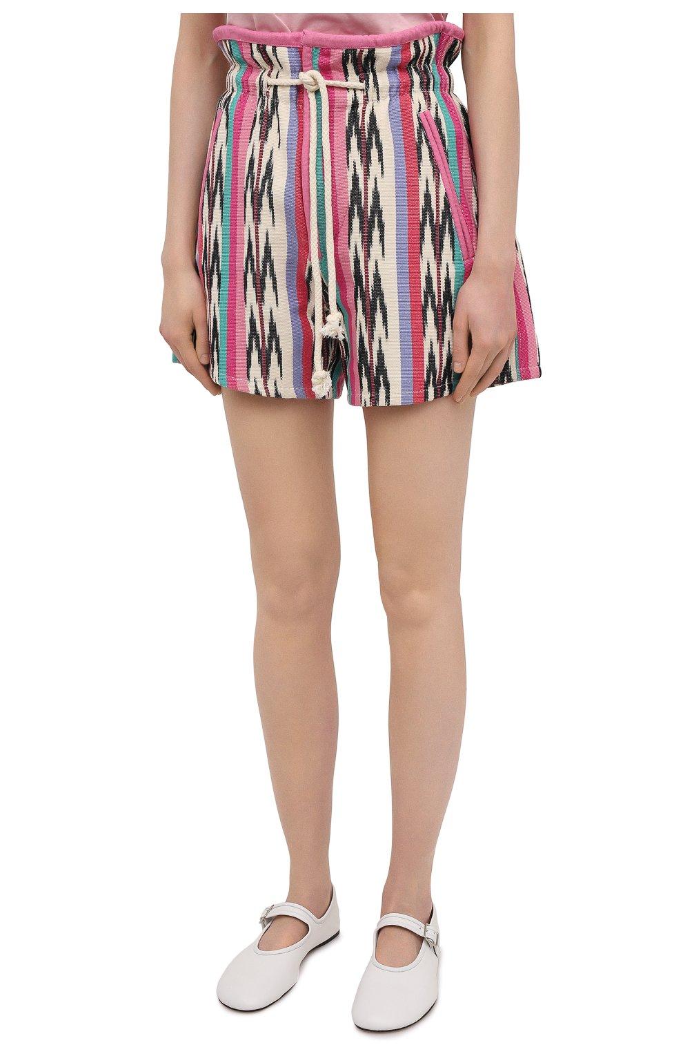 Женские хлопковые шорты ISABEL MARANT ETOILE разноцветного цвета, арт. SH0367-21P010E/INIMA | Фото 3