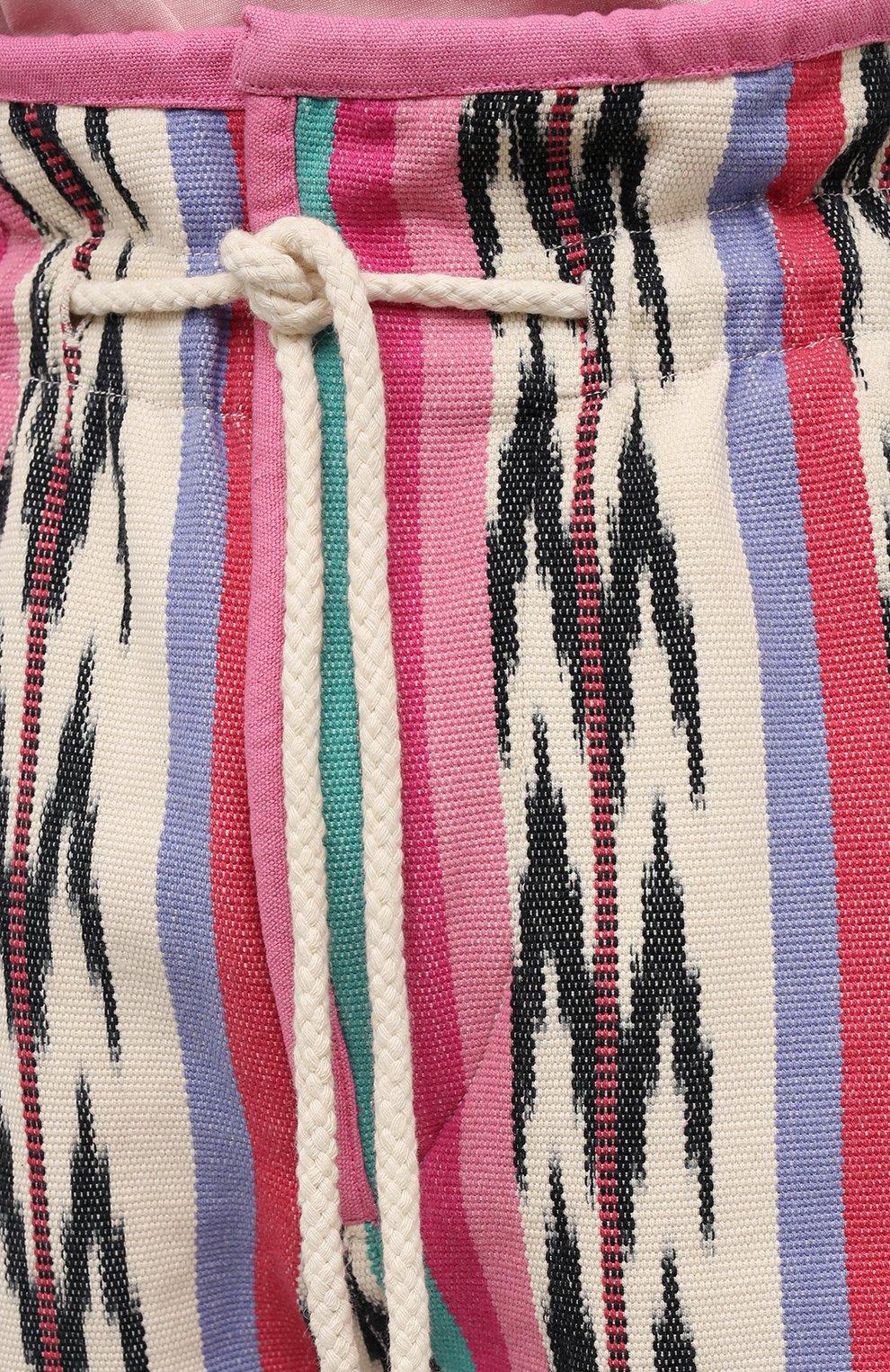 Женские хлопковые шорты ISABEL MARANT ETOILE разноцветного цвета, арт. SH0367-21P010E/INIMA | Фото 5