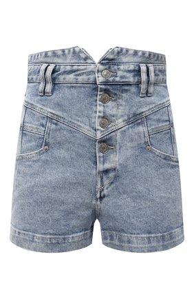 Женские джинсовые шорты ISABEL MARANT голубого цвета, арт. SH0394-21E019I/DIR0YSR | Фото 1