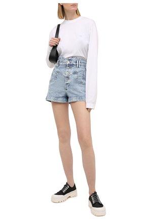 Женские джинсовые шорты ISABEL MARANT голубого цвета, арт. SH0394-21E019I/DIR0YSR | Фото 2