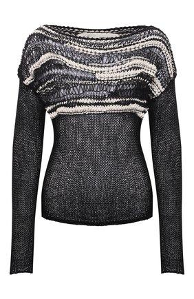 Женский хлопковый свитер ISABEL BENENATO черно-белого цвета, арт. DK43S21 | Фото 1