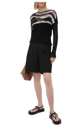 Женский хлопковый свитер ISABEL BENENATO черно-белого цвета, арт. DK43S21 | Фото 2