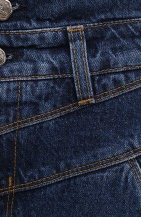 Женские джинсы TWO WOMEN IN THE WORLD синего цвета, арт. 0RCHIDEA/A1NG033 | Фото 5 (Кросс-КТ: Деним; Длина (брюки, джинсы): Стандартные; Материал внешний: Хлопок; Детали: Потертости; Силуэт Ж (брюки и джинсы): Бойфренды; Стили: Кэжуэл)