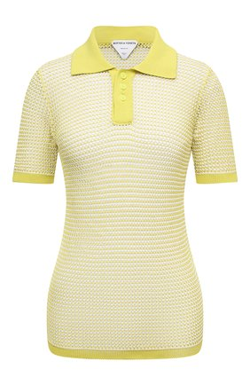 Женское поло BOTTEGA VENETA желтого цвета, арт. 659484/V0R50 | Фото 1