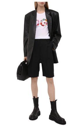 Женская хлопковая футболка DOLCE & GABBANA белого цвета, арт. F8H32Z/G7Y0M   Фото 2 (Материал внешний: Хлопок; Рукава: Короткие; Длина (для топов): Стандартные; Принт: С принтом; Женское Кросс-КТ: Футболка-одежда; Стили: Гламурный)