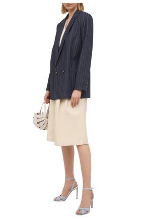 Женские кожаные босоножки deana RALPH LAUREN светло-голубого цвета, арт. 800841334 | Фото 2