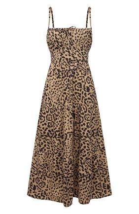 Женское хлопковое платье FAITHFULL THE BRAND леопардового цвета, арт. FF1672-SHP | Фото 1