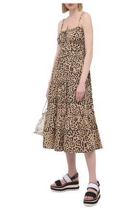 Женское хлопковое платье FAITHFULL THE BRAND леопардового цвета, арт. FF1672-SHP | Фото 2