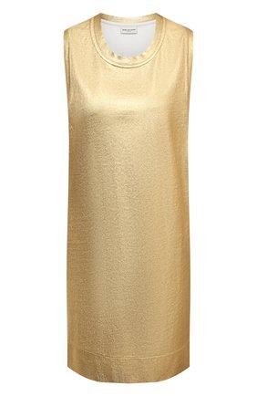 Женское хлопковое платье DRIES VAN NOTEN золотого цвета, арт. 211-11123-2624 | Фото 1