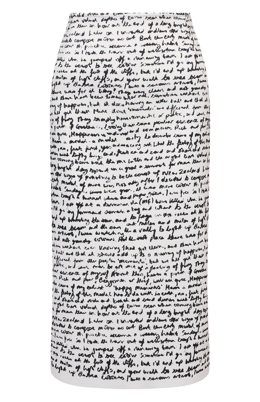 Женская юбка DRIES VAN NOTEN черно-белого цвета, арт. 211-10829-2097 | Фото 1