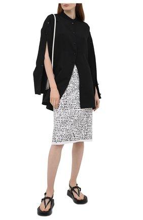 Женская юбка DRIES VAN NOTEN черно-белого цвета, арт. 211-10829-2097 | Фото 2