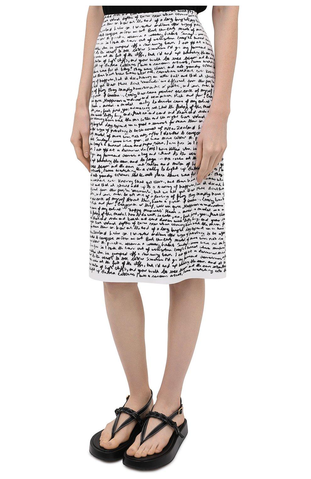Женская юбка DRIES VAN NOTEN черно-белого цвета, арт. 211-10829-2097 | Фото 3