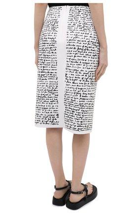 Женская юбка DRIES VAN NOTEN черно-белого цвета, арт. 211-10829-2097 | Фото 4