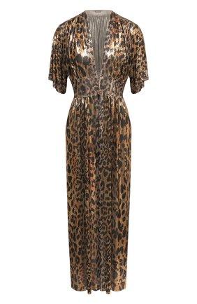 Женское платье PACO RABANNE леопардового цвета, арт. 21EIR0328MH0119 | Фото 1