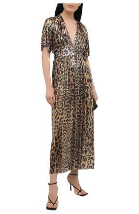 Женское платье PACO RABANNE леопардового цвета, арт. 21EIR0328MH0119 | Фото 2