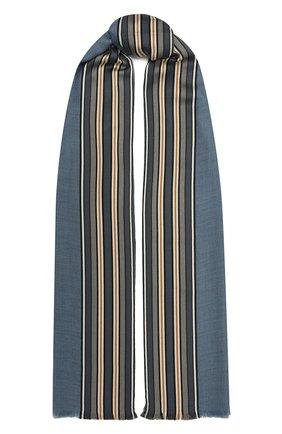 Женская шаль из смеси шелка и кашемира LORO PIANA синего цвета, арт. FAI2568   Фото 1