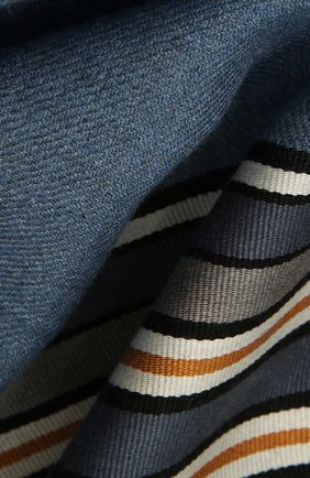 Женская шаль из смеси шелка и кашемира LORO PIANA синего цвета, арт. FAI2568   Фото 2