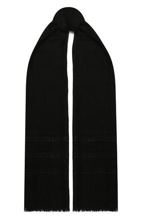 Женская шаль из кашемира и шелка LORO PIANA черного цвета, арт. FAL5593   Фото 1