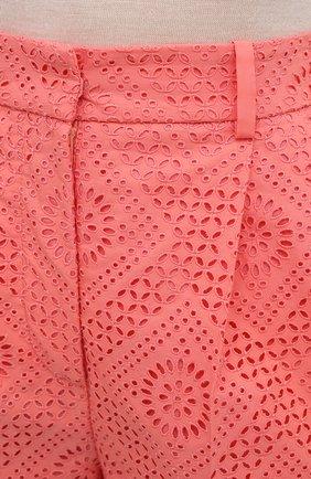 Женские хлопковые шорты LORO PIANA кораллового цвета, арт. FAL5938 | Фото 5 (Женское Кросс-КТ: Шорты-одежда; Длина Ж (юбки, платья, шорты): Мини; Материал внешний: Хлопок; Материал подклада: Хлопок; Стили: Кэжуэл)
