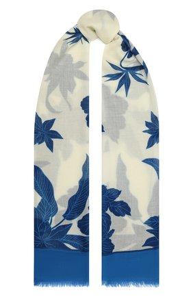 Женская шаль из кашемира и шелка LORO PIANA синего цвета, арт. FAL6212   Фото 1