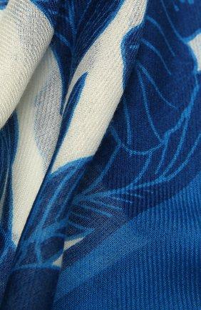 Женская шаль из кашемира и шелка LORO PIANA синего цвета, арт. FAL6212   Фото 2