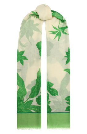 Женская шаль из кашемира и шелка LORO PIANA зеленого цвета, арт. FAL6212   Фото 1