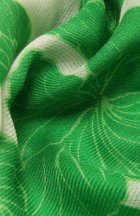 Женская шаль из кашемира и шелка LORO PIANA зеленого цвета, арт. FAL6212   Фото 2